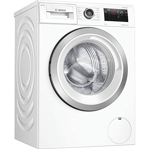 Bosch WAU28PH9GB Serie 6 Freestanding Washing Machine with i-Dos, Home Connect and SpeedPerfect, 9kg load, 1400rpm spin - White