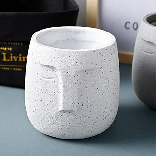 SYART Nordic Creatieve Abstractie Menselijk Gezicht Dof Poolse Keramiek Vaas Koffie Shop Ingang Desktop Decoratie Bloem Pot