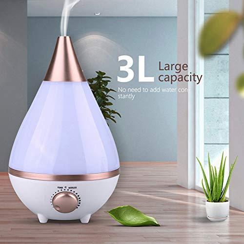 Greensen Luftbefeuchter 3L Ultraschall Aromatherapie Diffusor Ultra Leise Aroma Diffuser mit 7 Farben LED Nachtlicht Raumluftbefeuchter für Schlaf- oder Kinderzimmer usw