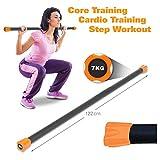 Sport-Tec Gewichtsstange 7 kg, orange, Hantelstange, Langhantel, Gewichtsstab