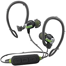 iHome Fit Wireless Headphones Bluetooth Water-Resistant Earbuds, Gray/Green - Featuring Melody, Voice Powered Music Assistant