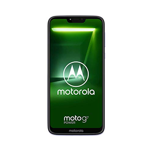 "Motorola Moto G7 Power (64GB, 4GB RAM) Dual SIM 6.2"" 4G LTE (GSM Only) Factory Unlocked Smartphone International Model XT1955-2 No Warranty (Violet)"