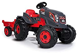Modern design: thanks to the modern combination of cool anthracite with bright red, 4 extra large, beefy wheels and a robust body it captivates the young children Super energy-saving: thanks to the integral chain drive, easy pedalling with the childr...
