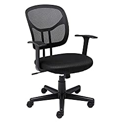 AmazonBasics Mid-Back Black Mesh Chair Pic- Best Office Chair Under 100