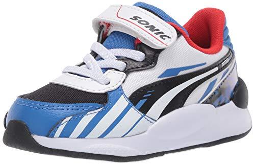 PUMA Baby Sega RS 9.8 Sonic Sneaker, Palace Blue White, 8 M US Toddler