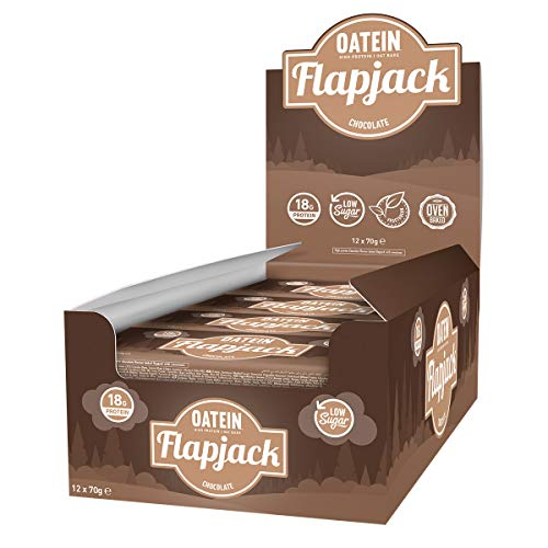 Oatein Low Sugar Protein Flapjack (20 x 70g) (Chocolate Chip)