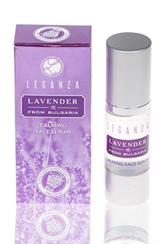 Serum facial calmante con aceite esencial de lavanda búlgara, Leganza