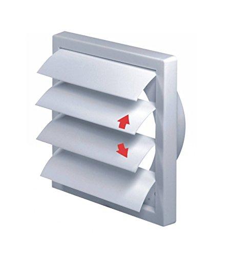 Awenta T79 - Rejilla de ventilación con láminas móviles tipo persiana (150 mm de diámetro)