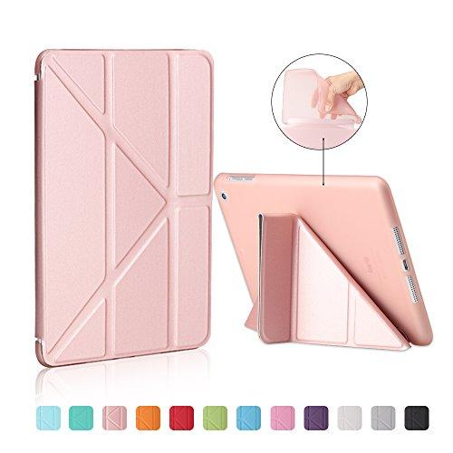 MiusiCase Funda para iPad Pro 11 Inch 2020, Suave TPU Carcasa Estuche con Auto-Sueño/Estela Magnético Smart Cover para iPad Pro 11 Inch 2018. Oro Rosa