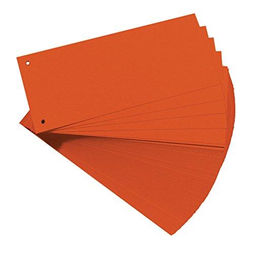 Original Falken 100er Pack Karton-Trennstreifen. Made in Germany. 10,5 x 24 cm orange Trennlaschen Trennblätter Ordner Register Blauer Engel