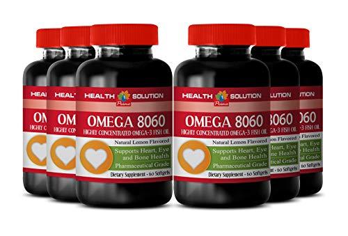 Omega 6 cla - Omega 8060 Omega-3 Fatty ACIDS - Immune System Support (6 Bottles)