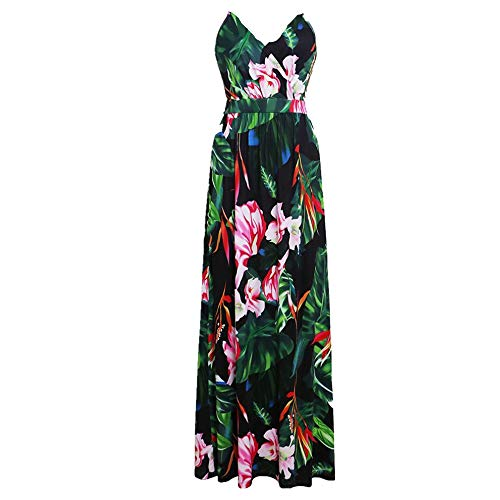 N\P Spring and Summer Women's Beach Dress with Drawstring Printing Green