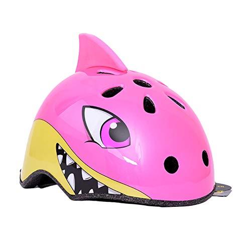 RTGE Tiburón Rosado Lindo Animal de la Historieta 3D Casco de Ciclismo...