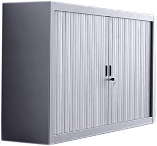 Fleda TRADING Armoire Metallique à Portes à Rideaux Blanc 100x45x100h