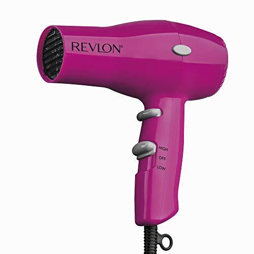 Revlon 1875W Lightweight + Compact Travel Hair Dryer, Pink