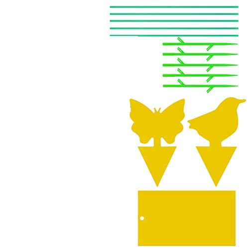 2 x Stall Fliegenfänger ungiftig beidseitig beleimt Fliegenfalle Köder Leimfalle