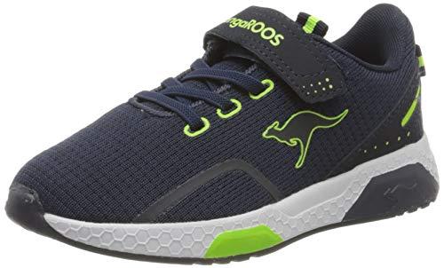 KangaROOS Kadee Lite EV Unisex-Kinder Sneaker, Blau (Dark Navy/Lime 4054), 40 EU