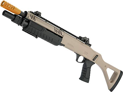 Evike FABARM STF12 Pump Action Tri-Shot Airsoft Shotgun w/Shooter-AR Mount (Model: Compact/Flat Dark Earth)