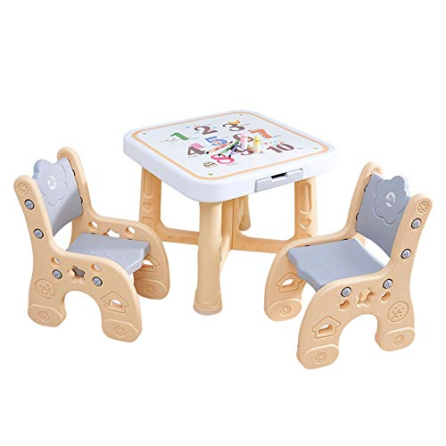 Review Of ShurndGao High Chair Plastic Children's Table and Chair Set Baby Table Height Adjustable F...