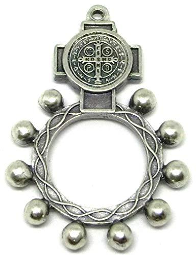 GTBITALY 90.124.30 001CRO Rosario da Dito Croce medaglia di San Benedetto Argento