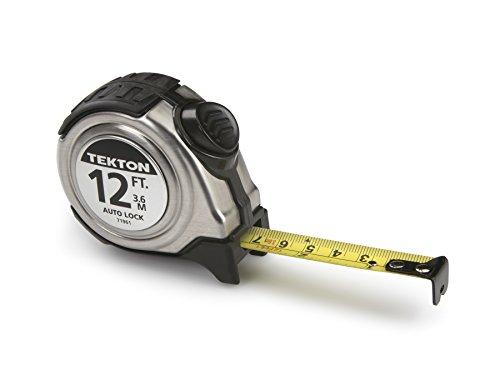 TEKTON 71961 Maßband mit Rastfunktion, 3,6 m bei 1,6 cm Breite