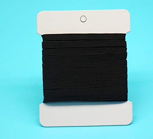 1/4 inch Elastic for Sewing Bands,Elastic Rope/Elastic Cord Heavy Stretch High Elasticity Knit Elastic Band for Sewing Crafts DIY, Bedspread, Cuff (10Yards,Black)