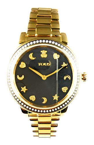 Reloj Tous Nocturne Acero Amarillo ESF Negra.Piedras. 900350410