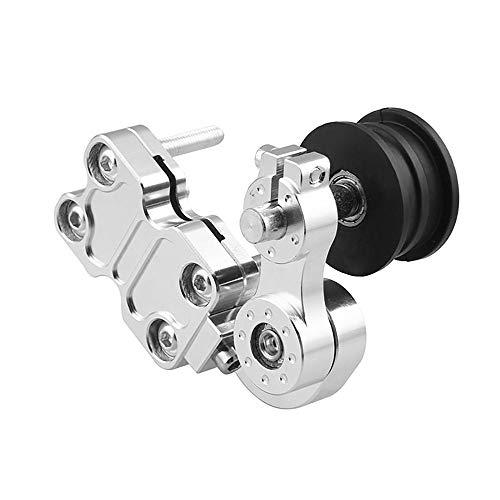 Universal CNC Aluminium Motorrad Kettenspanner Teller Roller Werkzeuge Modifizierte Zubehör Für Dirt Pit Bike ATV Motocross Cyclist store (Farbe : Silber)