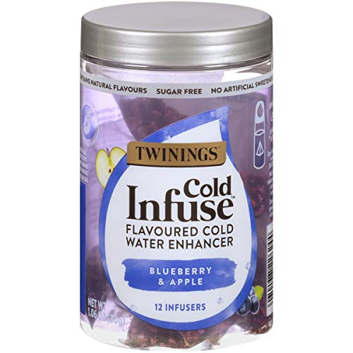 Twinings Cold Infuse Flavored Water Enhancer, Blueberry & Apple, 12 Infusers (Pack of 6)