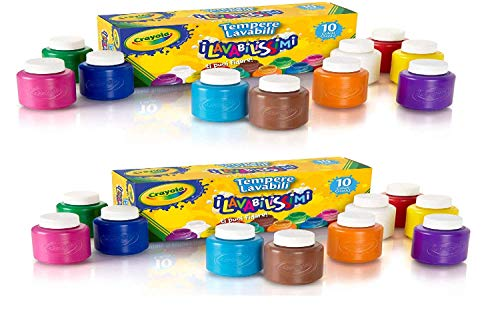 Crayola Washable Kids' Paint, Assorted Colors 10 ea (Pack of 2)