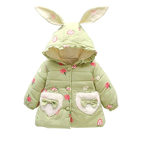 Dreamyth Toddler Baby Girls Fleece Coat Winter Fall Cute Bunny Ears Hoodie Jackets Outerwear+Cartoon Messenger Bag