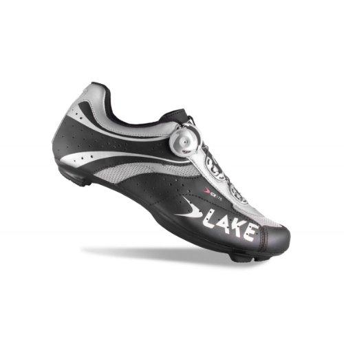 Lake CX175 Rennradschuhe Men schwarz/silber Größe 48 2014 Rennrad Schuhe