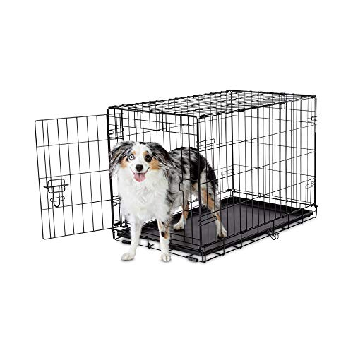 "Petco Brand - Animaze 1-Door Folding Dog Crate, 30.5"" L x 19.2"" W x 21.5"" H, Medium, Black"