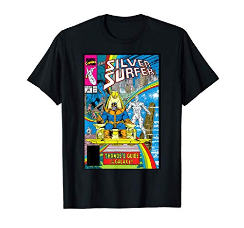 Marvel Silver Surfer Rainbow Thanos's Guide Comic Cover T-Shirt