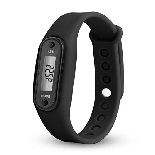 Toamen Ejecutar Step Watch Bracelet PodóMetro Contador De Calorias Relojes Digitales De La Distancia Que Recorre De LCD (A)