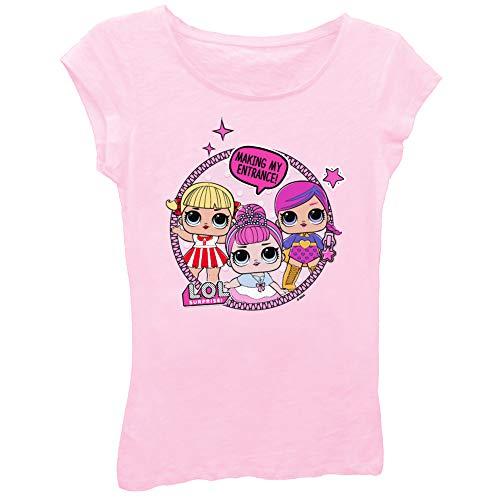 L.O.L. Surprise! Girls Toy Shirt - LOL Surprise Tee - Lil Outrageous Littles T-Shirt (Light Pink Group, Medium-5/6)