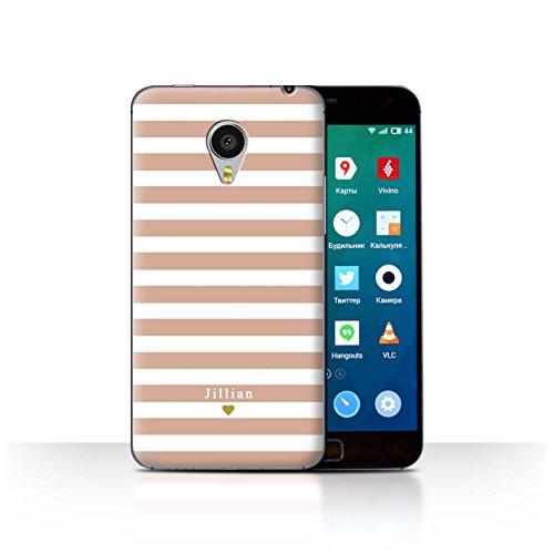 Stuff4Phone Case/Cover/Skin/mzumx4p/Custom Stripes/Striped Collection Coeur Rose Nu