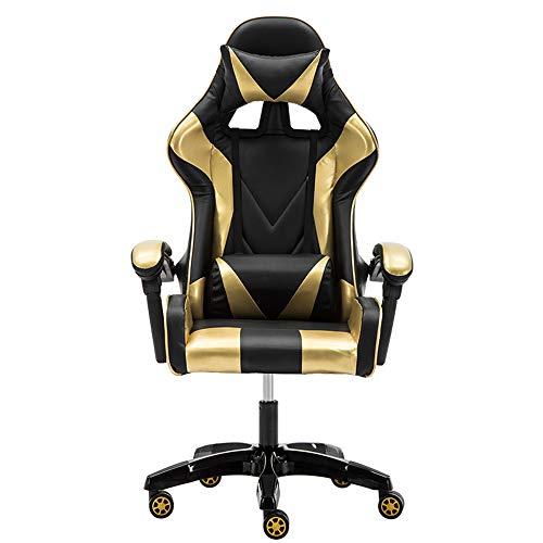YUYAOBING Professionale Computer Gaming Chair DNF LOL Internet Cafè Sport Corsa Sedia Poltrona WCG Gioca Gaming Lounge Chair Sedia da Ufficio,Style 1,No footrest