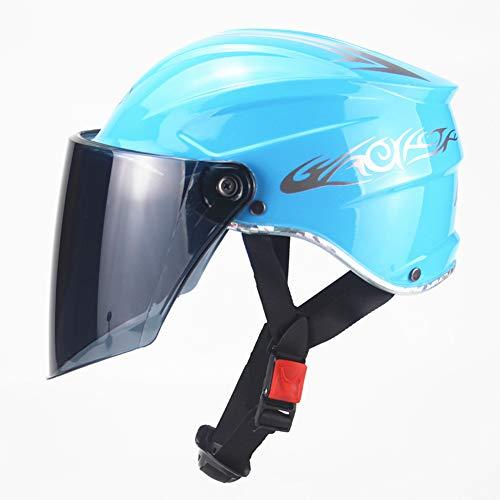 Sanqing Sommerhelme, Classic Commuter Bike/Schlittschuh/Multisport, Motorradhelm Unisex,Blue