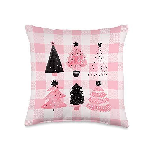 Seasonal Holiday Decor Girly Christmas Tree Throw Pillow, 16x16, Multicolor