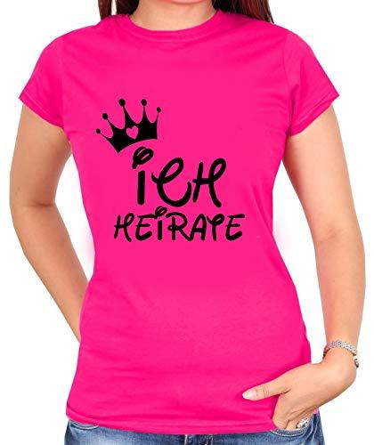 Junggesellinnenabschied Tshirt | JGA -Disney | ICH HEIRATE - WIR FEIERN | JGA | Damen Shirt | Party, Hochzeit, Feier | Braut | Braut Team | Gr. XS-3XL (M, Pink (Ich Heirate))