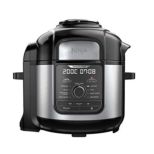 Ninja Foodi [OP500EU] Pentola a Pressione Multifunzione, Fornello Lento, Acciaio e Nero