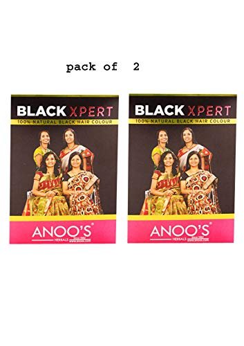 Anoos Black Xpert black henna (pack of 2)