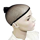 Praktische Perücke, Netz, schickes Haar, offenes Ende, tragbar, elastisch, Schwarz