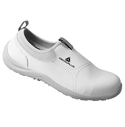 Deltaplus MIAMIS2BC44 Zapatos Bajos de Microfibra/PU - S2 SRC, Blanco, Talla 44