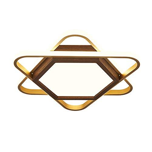 YQ WHJB Montaje Al RAS Lámpara De Techo,Regulable Led Acrílico Plafones,Moderno Aluminio Luminarias para La Cocina del Comedor del Dormitorio-Luz cálida 60x6cm(24x2inch)
