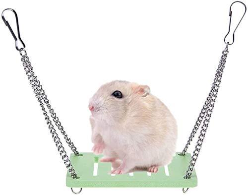 Hamster Swing Rat Toys Toys Toys Mascota Colgando Swing Hamster Escalera Ejercicio Fitness Juguetes forhamster pequeño Mascotas Rosa (Color : Green)