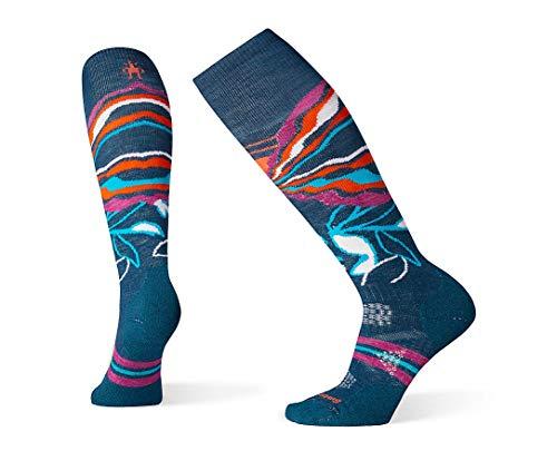 Smartwool PhD Outdoor Light Over the Calf Socks - Women's Ski Medium Wool Performance Sock DEEP MARLIN Small