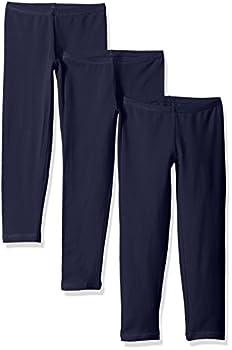 Hanes Little Girls  Leggings  Pack of 3  Navy Medium