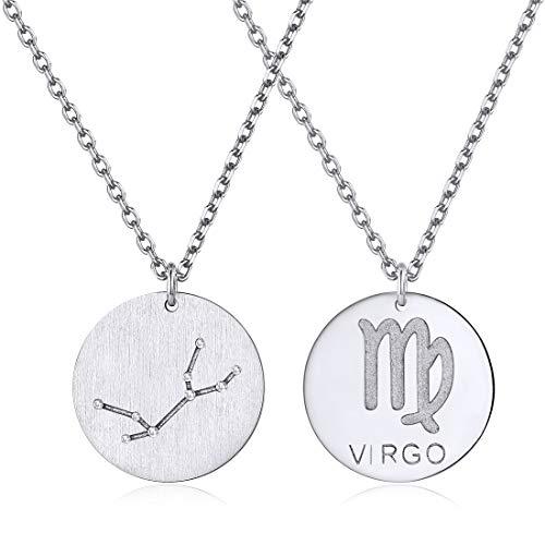 ChicSilver Sternzeichen Kette Jungfrau - Damen-Kette mit Anhänger Sternzeichen - 925 Sterling Silber, 45cm …